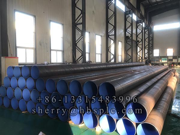 Inside Epoxy coated steel pipe D355.6X6