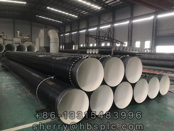 Inside Epoxy Outside Polyethylene Coated Steel Pipe D630X10