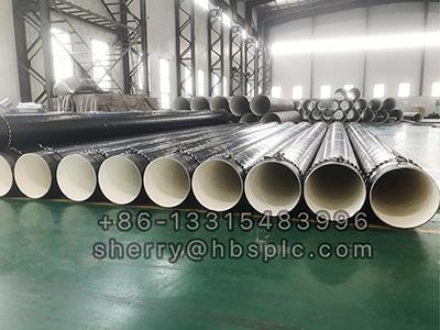 Inside Epoxy Outside Polyethylene Coated Steel Pipe D630X14