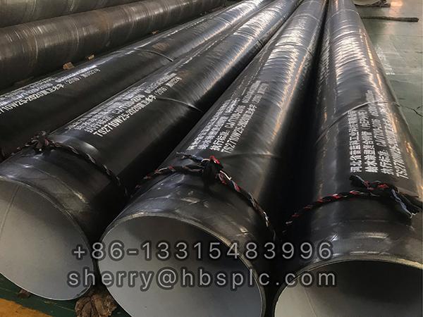 Inside Epoxy Outside Polyethylene Coated Steel Pipe