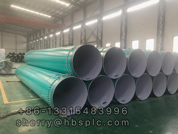 Inside and Outside Epoxy Coated steel pipe ID900