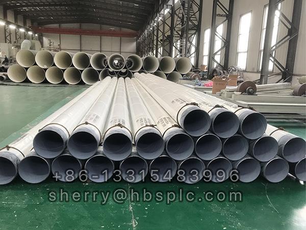 Inside Epoxy and Outside Double Epoxy coated steel pipe 12