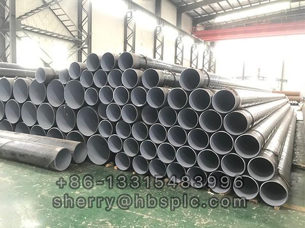 Inside Epoxy Outside Polyethylene Coated Steel Pipe DN250