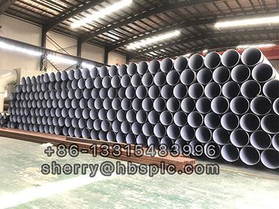 Inside Epoxy Outside Polyethylene Coated Steel Pipe DN450