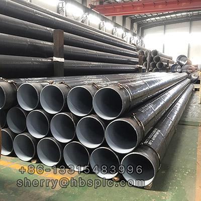 Inside Epoxy Outside Polyethylene Coated Steel Pipe DN350
